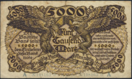 Badische Bank -- 5.000 Mark 1922 Ros.BAD08