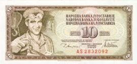 Joegoslavië P87.a 10 Dinara 1978-81