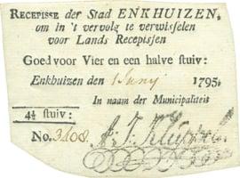 PL390.1b: Enkhuizen 4½ Stuiver 1 Juny 1795