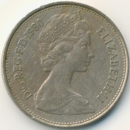 Engeland 5 New Pence 1980 KM#911