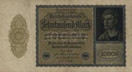 Duitsland Ros.069h: M 10.000 Mark 1922 DEU78c: M