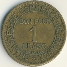 Frankrijk 1 Franc KM876 1923