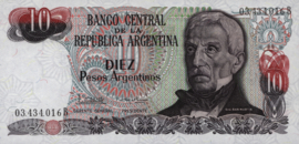 Argentinië P313.a1 10 Pesos Argentinos 1983-84 (No date)