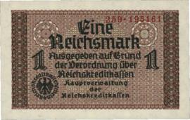 Reichskreditkassenscheine Ros.551 1 Mark 1939