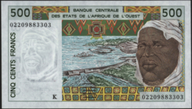 Senegal P710K.l 500 Francs 1991-2002