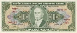 Brazilië P159.e: 10 Cruzeiros ND (1950) UNC-