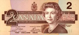 Canada P94.a 2 Dollars 1986