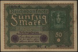 Deutsches Reich 50 Mark 1919 DEU-71 Reihe 4