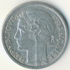 Frankrijk 2 Francs KM#886 (en varianten) 1931-1959