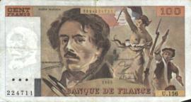 Frankrijk P154.d 100 Francs 1978-95