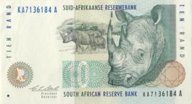 Zuid Afrika P123.a 10 Rand 1993-99 (No date)