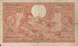 België P113 100 Francs / 20 Belgas Model 1933