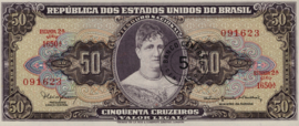 Brazilië P184.b 5 Centavos on 50 Cruzeiros 1966-67 (No date)