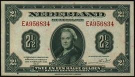 Nederland PL15: 2½ Gulden 4-2-1943 XF