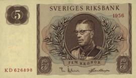 Zweden P42 5 Kronor 1956