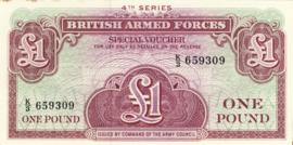 Engeland, Militaire uitgaven PM36 1 Pound ND (1962)