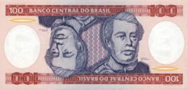 Brazilië P198b 100 Cruzeiros ND (1981-1984)
