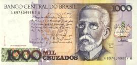 Brazilië P213 1.000 Cruzados 1987-1988 (No Date)