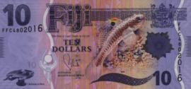 Fiji P116.a 10 Dollars 2013