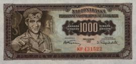 Joegoslavië P71.a 1.000 Dinara 1955