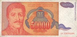 Joegoslavië P142 50.000 Dinara 1994