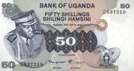 Oeganda P8.c 50 Shillings 1973 (No date)