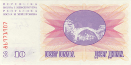 Bosnië-Herzegovina P10.a 10 Dinara 1992