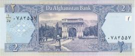 Afghanistan P65 2 Afghanis 2002 UNC