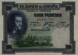 Spanje P69.a 100 Pesetas 1925