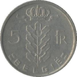 België KM135.1 5 Franks 1948-1981