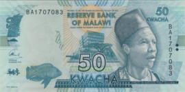 Malawi B157.c 50 Kwacha 2014-Present