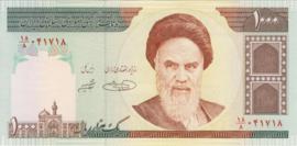 Iran P143.d 1.000 Rials 1992