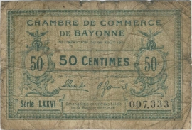 Frankrijk Bayonne Coffing 2A 50 Centimes 1920-1922 Fraai
