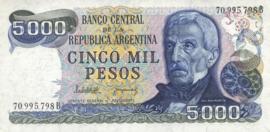 Argentinië P305.f 5.000 Pesos 1977-1983 (No date)