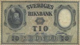 Zweden P43.e 10 Kronor 1953-1962