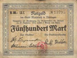 Meuselwitz 2955.1 500 Mark 1922