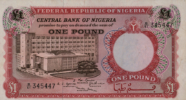 Nigeria P8.a 1 Pound 1967