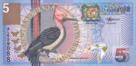 Suriname PLS22.1.a 5 Gulden 2000