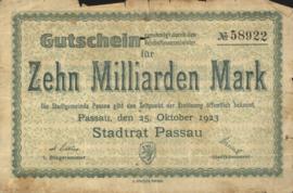 Passau 4243.q 10.000.000.000 Mark 1923
