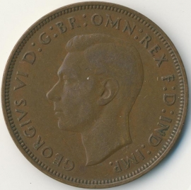 Engeland 1 PENNY 1947 KM# 845