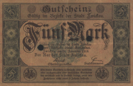 Zwickau 584.02.E 5 Mark 1918