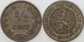 Nederland Sch.726 1/2 Cent 1884