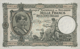 België P110.c 1.000 Francs / 200 Belgas 1928-1939