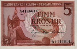 Ijsland P37.b 5 Krónur 1957