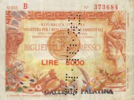 Italy - Toegangsbewijzen - Biglietto D'Ingresso  8.000 Lire 1993