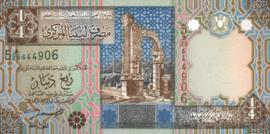 Libië P62 1/4 Dinar 2002 (No date)