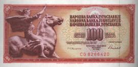 Joegoslavië P90.c 100 Dinara 1986