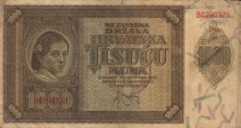 Kroatië P4 1.000 Kuna 1941