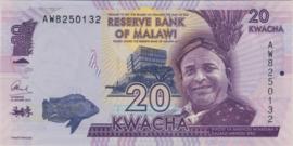Malawi PNL 20 Kwacha 2015 B158b