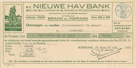 Nederland, Schiedam, Verzekeringspolis, Polis en nota, 1935